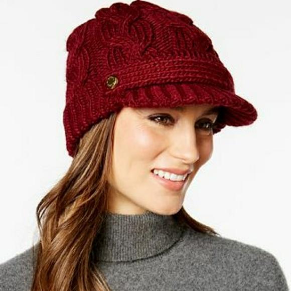 Michael kors cable knit hat f97072f520f
